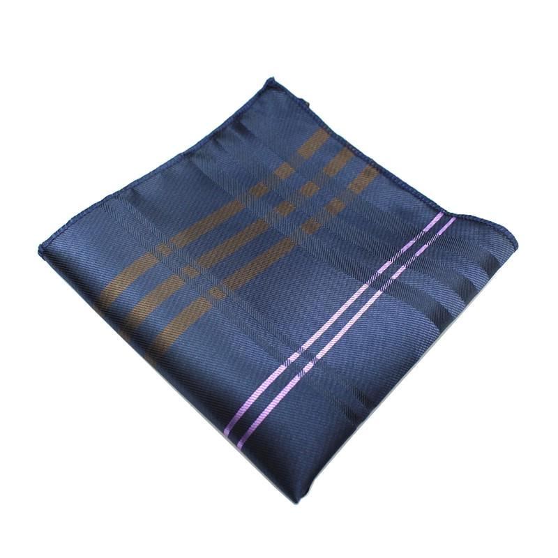 Classy Men Pocket Square Dark Blue - Classy Men Collection
