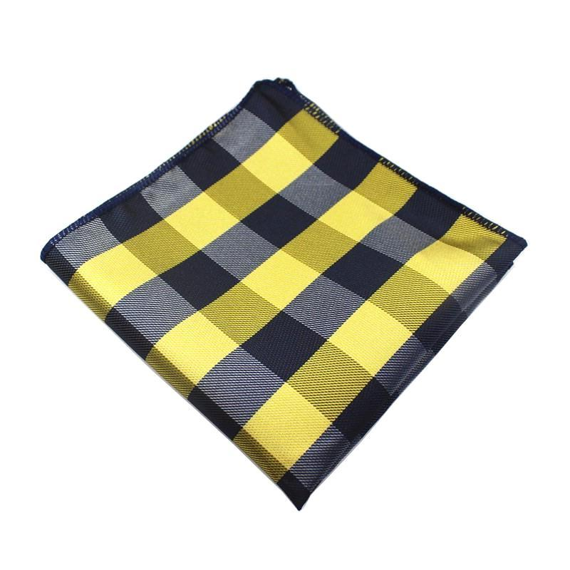 Classy Men Pocket Square Black & Yellow