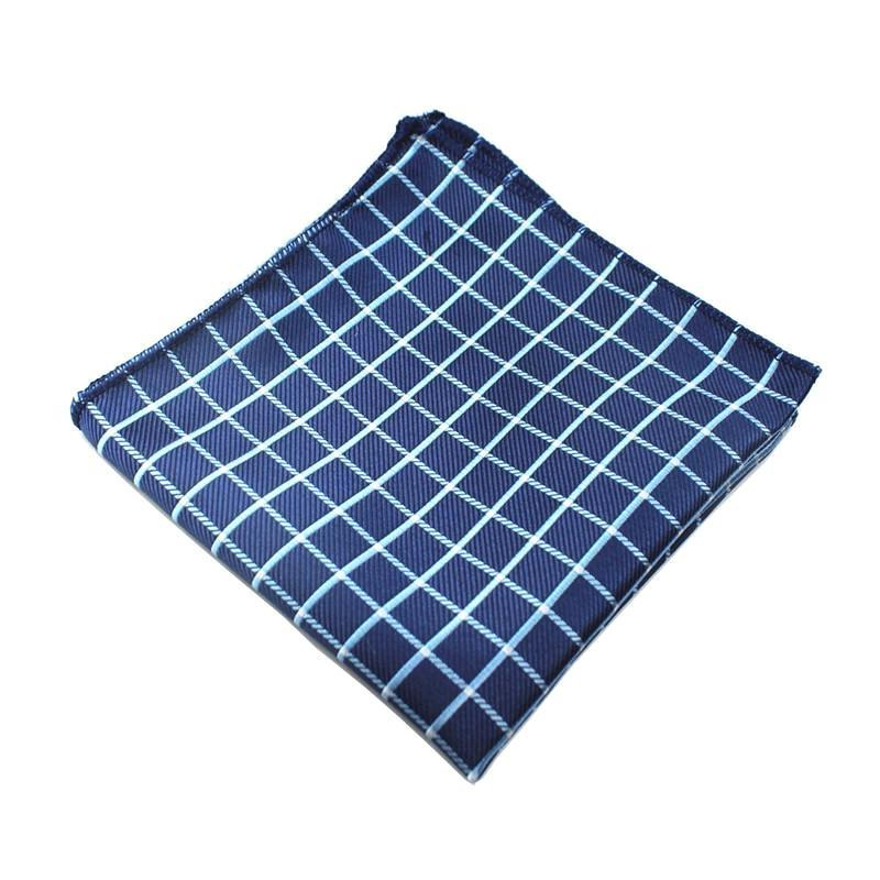 Classy Men Pocket Square Blue Squared - Classy Men Collection