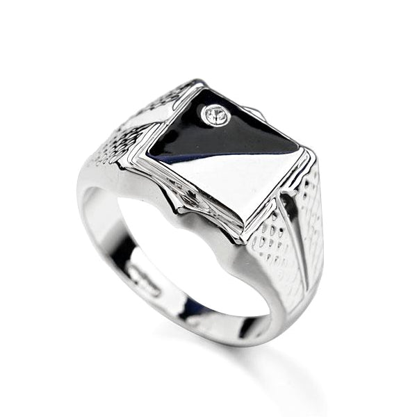 Classy Men Black & White Pinky Ring - Classy Men Collection