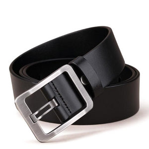Classy Men Wide Black Leather Belt