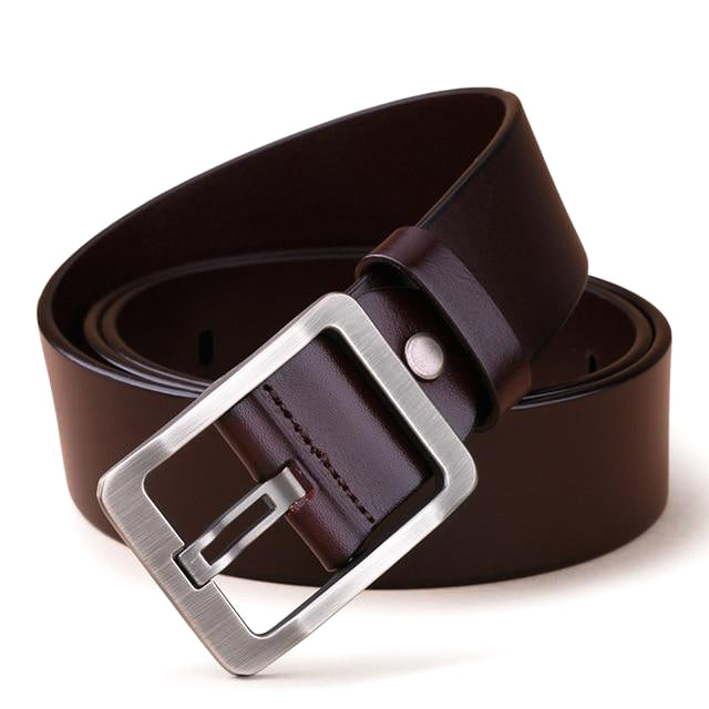 Classy Men Wide Brown Leather Belt