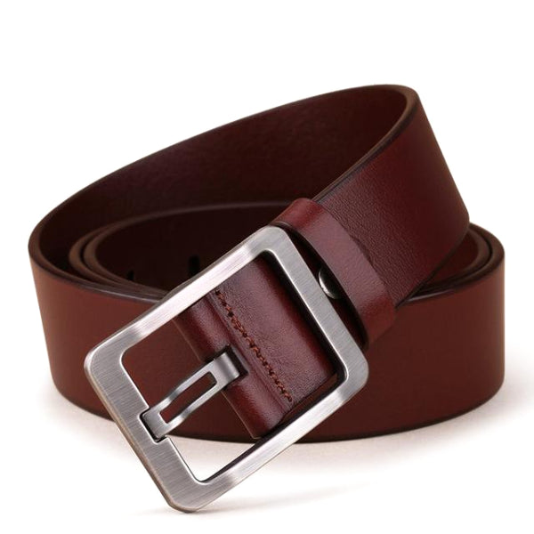 Classy Men Wide Redwood Leather Belt