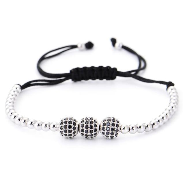 Classy Men Bracelet Triple Platinum - Classy Men Collection