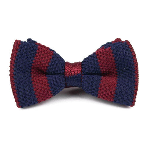 Classy Men Knitted Bow Tie Navy/Red - Classy Men Collection