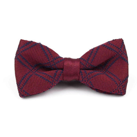 Classy Men Knitted Bow Tie Wine - Classy Men Collection