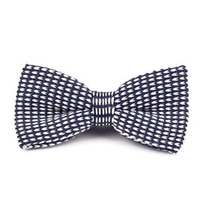 Classy Men Knitted Bow Tie Blue/White - Classy Men Collection