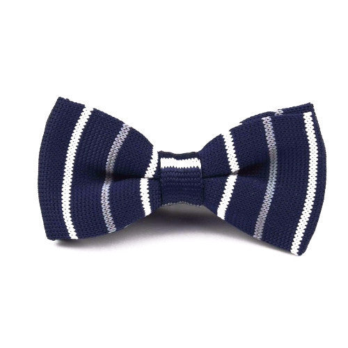 Classy Men Knitted Bow Tie Striped - Classy Men Collection