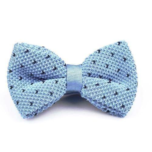 Classy Men Knitted Bow Tie Sky Blue - Classy Men Collection
