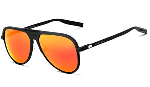 Classy Men Orange Polarized Luxury Aviators