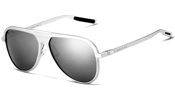 Classy Men Silver Polarized Luxury Aviators