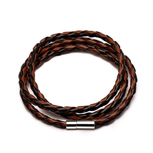 Classy Men Multicolor Leather Bracelet - 5 Colors - Classy Men Collection