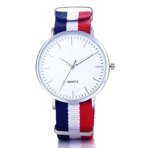 Classy Men Watch Fancy - Blue White Red - Classy Men Collection