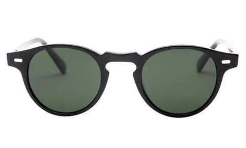 Classy Men Sunglasses Retro Black/Green - Classy Men Collection