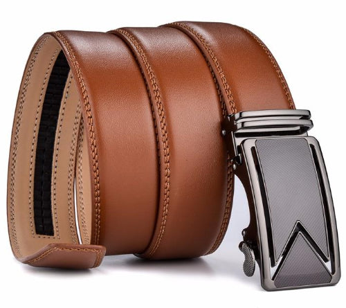 Classy Men Brown Leather Dress Belt - Classy Men Collection