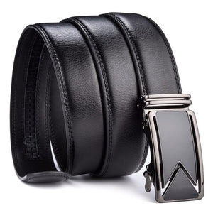 Classy Men Black Leather Dress Belt - Classy Men Collection