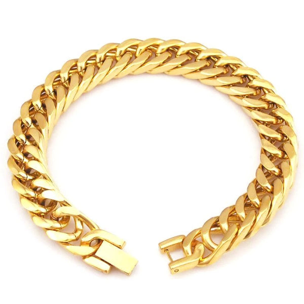 Classy Men Gold Chain Bracelet - Classy Men Collection