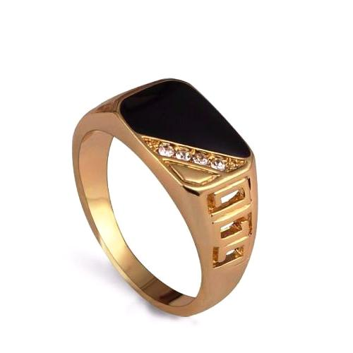 Classy Men Gold/Diamond Ring - Classy Men Collection