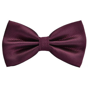 Classy Men Burgundy Deluxe Pre-Tied Bow Tie - Classy Men Collection