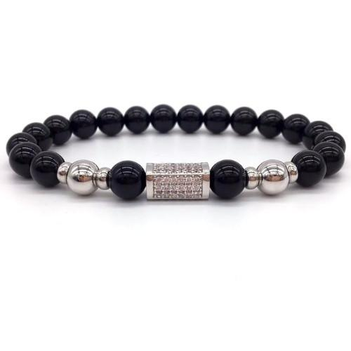 Classy Men Silver on Silver Bar Bracelet - Classy Men Collection