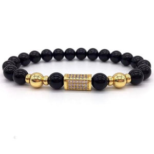 Classy Men Black on Black Bar Bracelet - Classy Men Collection
