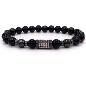 Classy Men Silver/Black Bar Bracelet - Classy Men Collection
