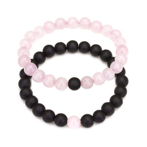 Classy Couple Bracelet Rose/Black - Classy Men Collection