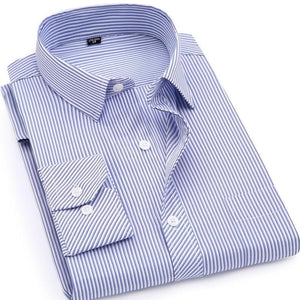 Light Blue Striped Dress Shirt | Modern Fit | Sizes 38-48