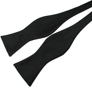 Classy Men Black Silk Self-Tie Bow Tie - Classy Men Collection