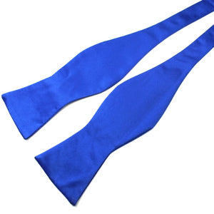 Classy Men Blue Silk Self-Tie Bow Tie - Classy Men Collection