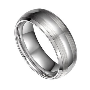 Classy Men Brushed Silver Ring - Classy Men Collection