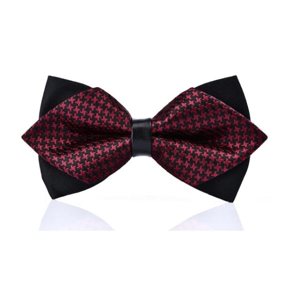 Classy Men Black Violet Pre-Tied Diamond Bow Tie - Classy Men Collection
