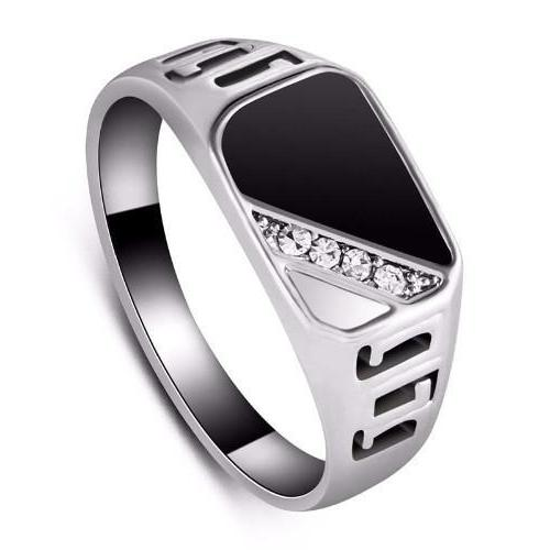 Classy Men Silver/Diamond Ring - Classy Men Collection