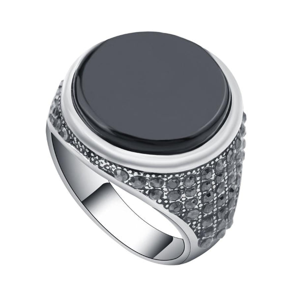 Classy Men Round Signet Pinky Ring