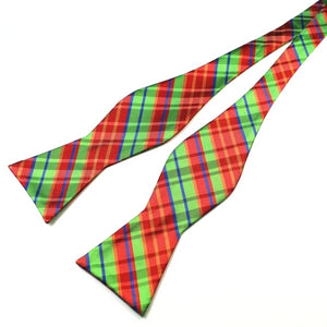 Classy Men Christmas Spirit Silk Self-Tie Bow Tie - Classy Men Collection