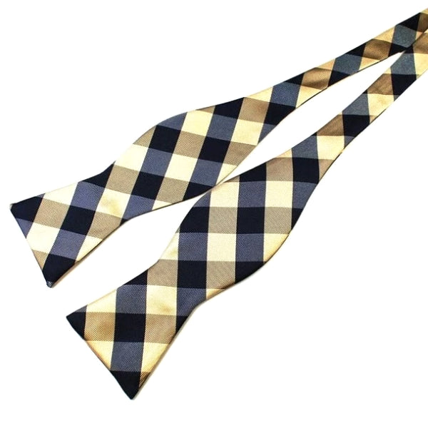Classy Men Casual Checkered Silk Self-Tie Bow Tie - Classy Men Collection