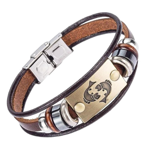 Classy Men Pisces Zodiac Sign Bracelet - Classy Men Collection