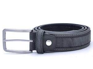 Classy Men Dark Grey Smart Casual Belt - Classy Men Collection