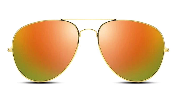 Classy Men Sunglasses Aviator Orange