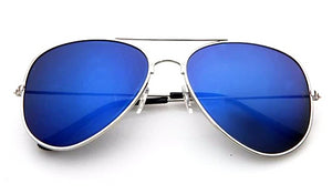 Classy Men Sunglasses Aviator Blue Silver - Classy Men Collection