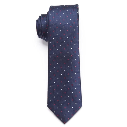 Classy Men Blue Mini Dot Skinny Tie - Classy Men Collection