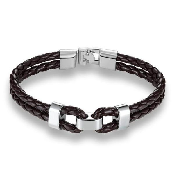 Classy Men Leather Bracelet