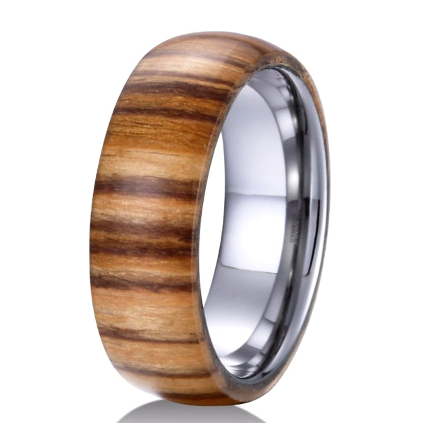 Classy Men Tungsten Wood Ring