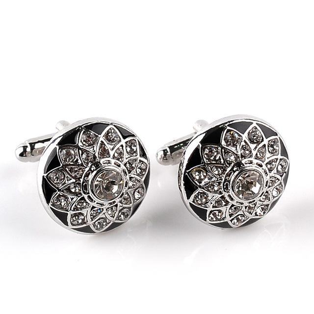 Classy Men Cufflinks Platinum Rose - Classy Men Collection