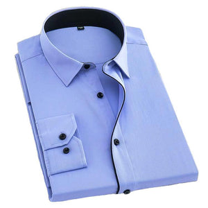 Formal Blue Dress Shirt | Modern Fit | Sizes 38-48 - Classy Men Collection