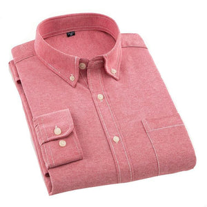 Plain Red Oxford Dress Shirt | Regular Fit | Sizes 38-44