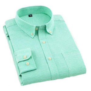 Plain Green Oxford Dress Shirt | Regular Fit | Sizes 38-44