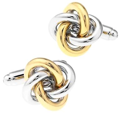 Classy Men Cufflinks Gold Knot - 4 Styles - Classy Men Collection