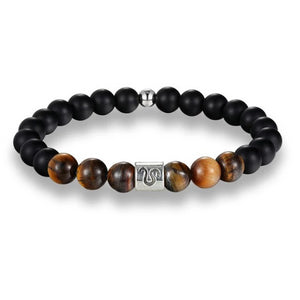Classy Men Leo Brown Beaded Zodiac Bracelet