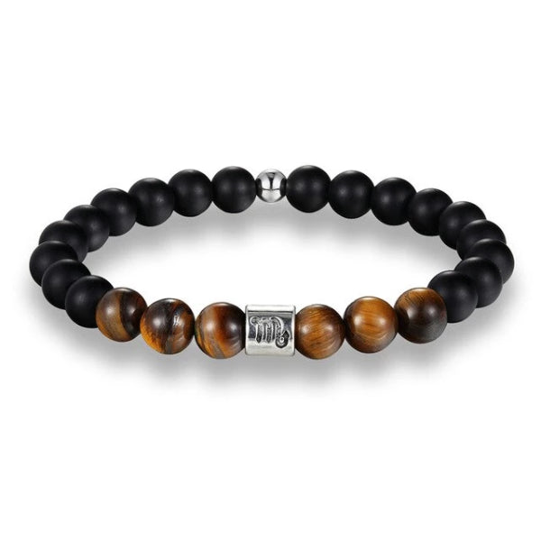 Classy Men Scorpio Brown Beaded Zodiac Bracelet